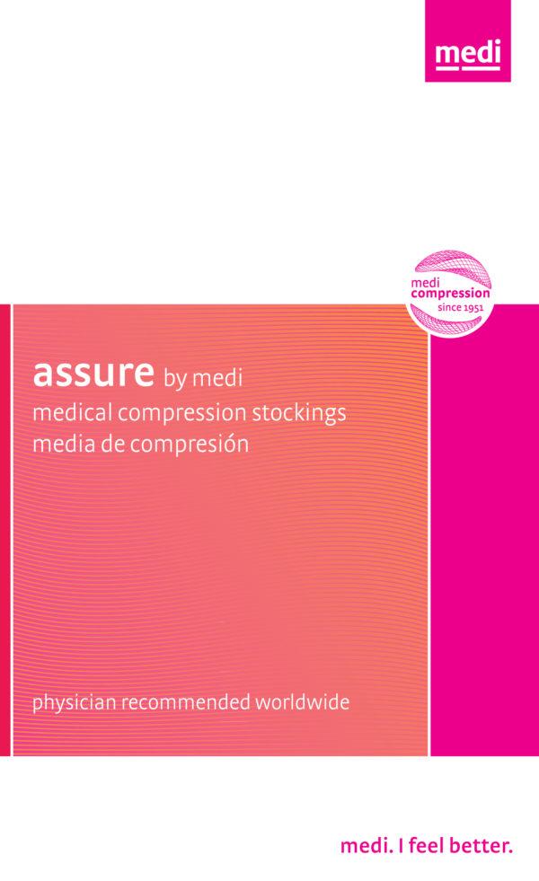 medi assure, 15-20 mmHg, Thigh High W/ Silicone Top-Band, Closed Toe